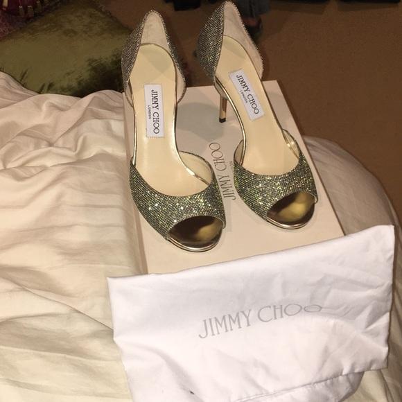 Jimmy Choo Peep Toe Evening Shoes